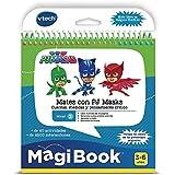 VTech PJ Masks MagiBook Libro Interactivo Educativo Que refuerza el Aprendizaje en Diferentes materias, a Través de Más DE 40 Actividades y 4200 interacciones (3480-480122)