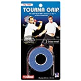 Tourna Tennis Over Grip 3 Overgrips Durable Absorbent Dry Feel Tournagrip Blue