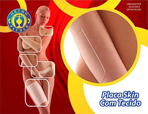 Placa Skin com Tecido, Ortho Pauher, Nude, 10 x 10 cm