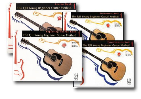 FJH Young Beginner Guitar Method Level 1 Pack - 4 book set - With CD's - Includes Lesson, Theory, Exploring Chords and Performance.