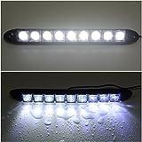 XCSOURCE 2x 9 LED 12V Voiture DRL Feux de Jour Lampe Ampoule Diurne Projecteur Brillante Etanche Blanc MA136