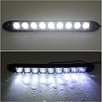 2x 9 Led Impermeabile Luci Diurne Daylight Running Light 12v LED DRL dell'automobile Luce Bianca MA136 XCSOURCE