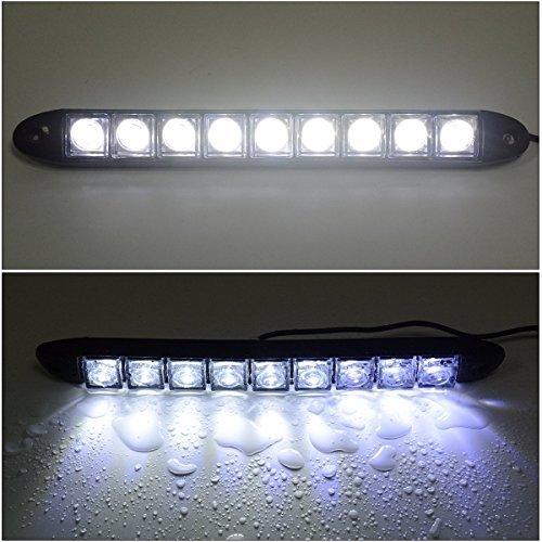 25 opinioni per 2x 9 Led Impermeabile Luci Diurne Daylight Running Light 12v LED DRL
