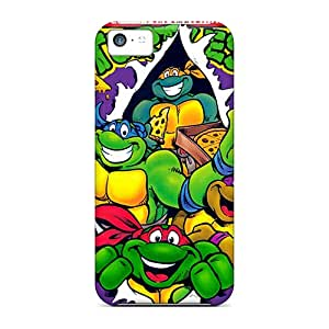 Perfect Hard Phone covers cases for Happy Christmas and New Year For Apple Iphone 5c With Unique Design Lifelike Ninja Turtles Pattern Hardphonecases