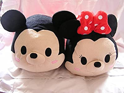 "Large 17"" Plush Disney Mickey Mouse & Minnie Mouse Tsum Tsum Bundle (2 ct)"