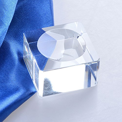 LONGWIN Square Dimple Blocks Glass Ball Display Stand For 80-90mm Sphere