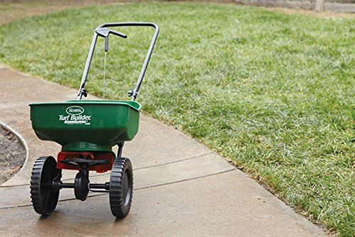 Broadcast Spreader Turf : Olwou scotts turf builder edgeguard mini broadcast spreader