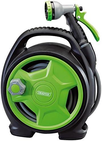 Draper Mini Hose Reel Set 10M with Spray Gun Garden//Patio Watering Equipment