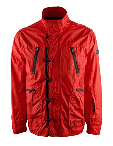 Tommy Hilfiger Toggle (Tommy Hilfiger Mens Lightweight Toggles Jacket Red XL)