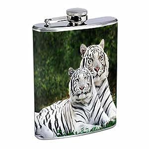 Tiger Flask D5 8oz Stainless Steel Wildlife Zoo Bengal Cat Wild Animal
