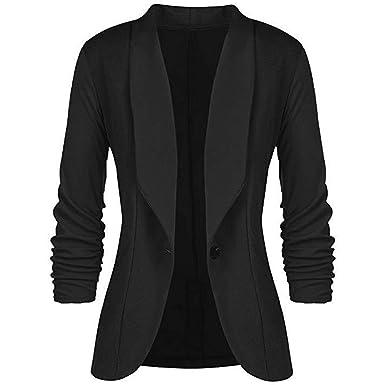 1cdd4677b36e Bestoppen 2018 Sale, Fashion Women OL Style Long Sleeve Button Blazer  Elegant Slim Suit Coat for Women Ladies: Amazon.co.uk: Clothing