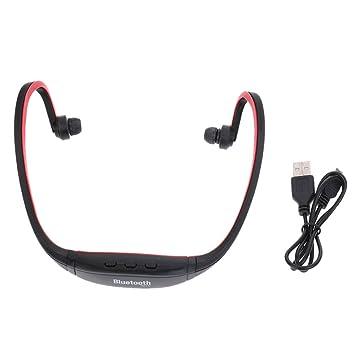 MagiDeal Sport Auriculares Inalámbricos Bluetooth Auriculares con Ranura para Tarjeta TF: Amazon.es: Electrónica