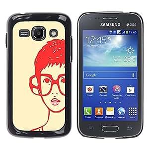 - Freaky Funny Pattern - - Monedero pared Design Premium cuero del tirš®n magnšŠtico delgado del caso de la cubierta pata de ca FOR Samsung Galaxy Ace3 s7272 S7275 Funny House