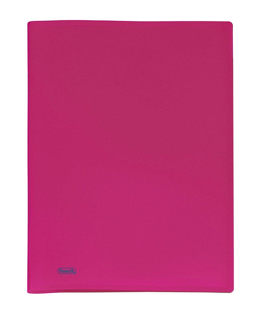 Favorit 100460253 Portalistino con 20 Buste Formato Interno 22x30 cm Fucsia