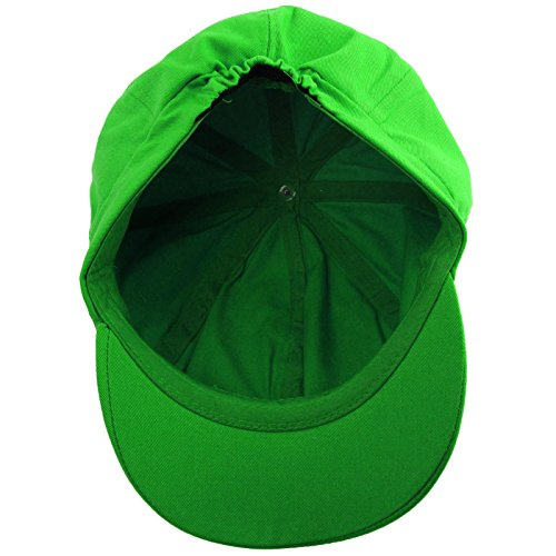 bea69be6b Summer 100% Cotton Plain Blank 8 Panel Newsboy Gatsby Apple Cabbie Cap Hat  Lime