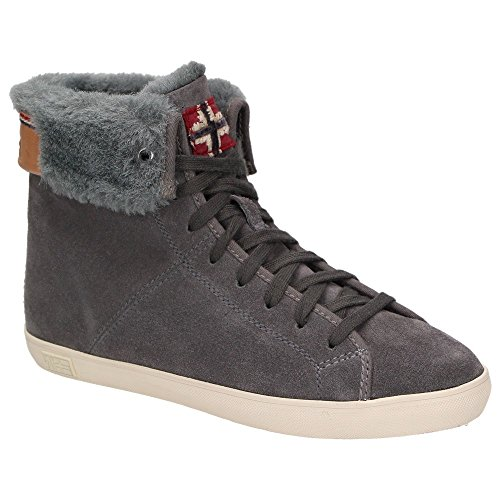 Napapijri asta 0774760–051 fille en cuir pour femme avec doublure chaude chaussures montantes gris Anthracite