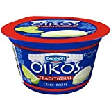 Oikos Key Lime Traditional Greek Yogurt, 5.3 Ounce - 12 per case.