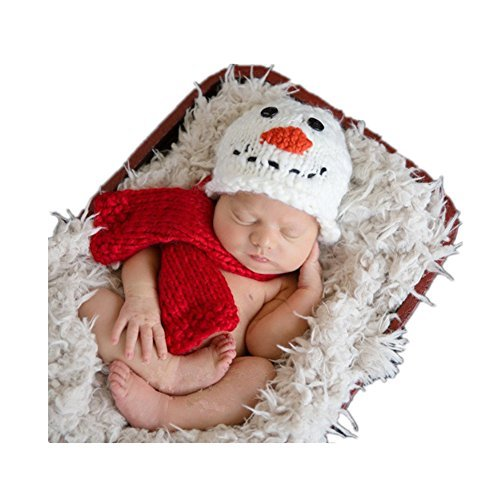 Amazon.com  Fashion Cute Unisex Newborn Boy Girl Baby Photography Props  Outfits Snowman Hat Scarf  Clothing 17f59a37c56