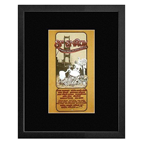 Jefferson Starship Santana Neil Young - Snack Benefit Kezar Stadium San Francisco 1975 Framed Mini Poster - - San Santana