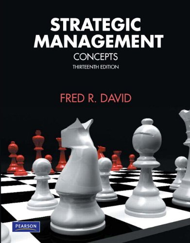 Strategic Management: Concepts (13th Edition)