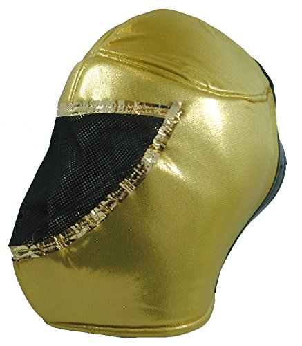 Fair Trade Genuine Mexican Wrestling Mask Nacho Libre! Choose from 5 designs (Gold) by Terrapin Trading