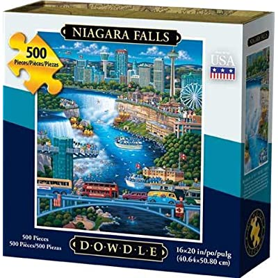 Niagara Falls 500pc 16x20 Jigsaw Puzzle by Eric Dowdle: Toys & Games