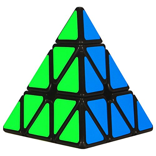Nice Aitey Pyramid Speed Cube Triangle Magic Cube Twisty Puzzle Christmas Gifts for Kids Black free shipping