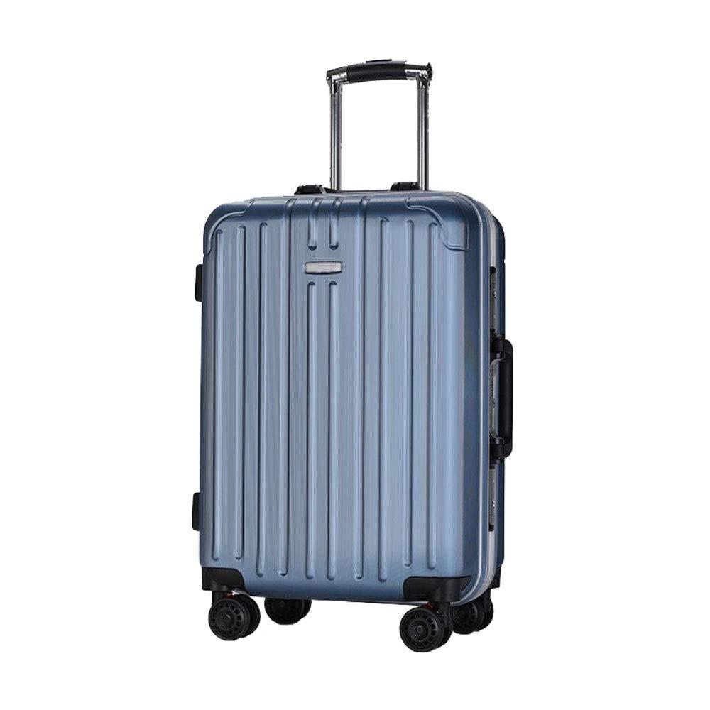 トロリーケースユニバーサルホイールビジネススーツケース24インチアルミフレーム学生荷物20インチ搭乗ケース (Color : 青, Size : 20 inch)   B07RBT1R65