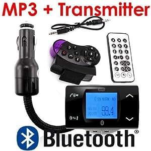 Bluetooth Car Kit Mp3 Player Fm Transmitter Modulator + Remote Control Usb/sd/mmc Support