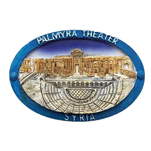 Collection Palmyra (Fridge Magnet Site of Palmyra Syria 3D Resin Handmade Craft Tourist Travel City Souvenir Collection Letter Refrigerator Sticker)