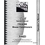 New Gehl MC880 Mower Conditioner Operators Manual