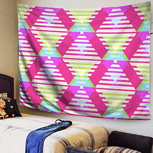 Autumn Colored Grasses - Capsceoll Aztec Tapestry,Hanging Wall Tapestry, 60x50Inches Seamless Abstract Geometric Triangle Background Pattern in Vector Fashion Wallpaper neon Colored pri Tapestry for Bedroom Living Room Dorm