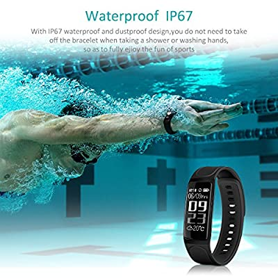 Fitness Tracker,Elegant Activity Tracker Smart Watch with Heart Rate Monitor, Calories Track,Sleep Monitor,IP67 Waterproof Smart Bracelet Pedometer Wristband with Call/SMS Remind for Android and iOS