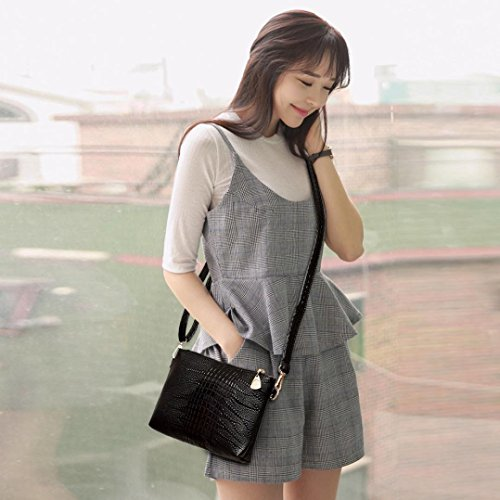 Crocodile Tote Handbag Shoulder Bluester Fashion Purse Ladies Black Small Women Bag Pattern X18nnxw