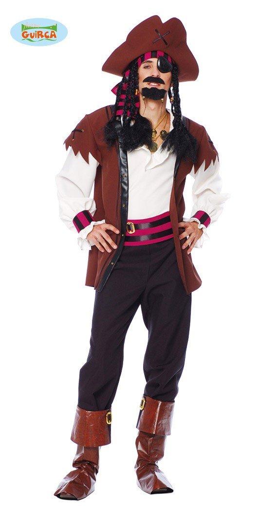 Guirca Costume Vestito Pirata Caraibi Jack Sparrow Carnevale Uomo 88140 XL