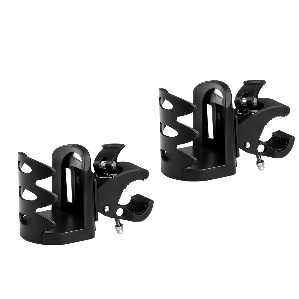 Universal Stroller Cup Holder by Accmor, Attachable Drink Holder for Baby Stroller, Pushchair Bicycle Strollers, Bike, Mountain Bike and Wheelchair (2Pack)