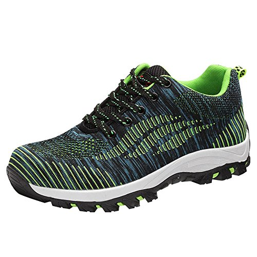 Optimal Men's Shoes Green Bright Shoes Work Shoes Steel Safety Toe PprxP0Rn