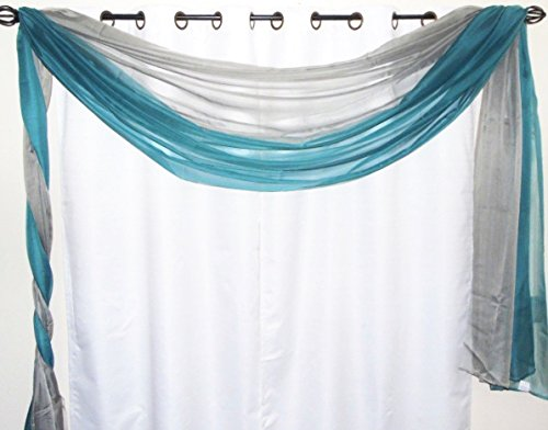 GorgeousHome *Different Colors* 2 **MIX-MATCH COLORS** Elegant Scarf Valance Voile Sheer Curtain Window Dressing 216
