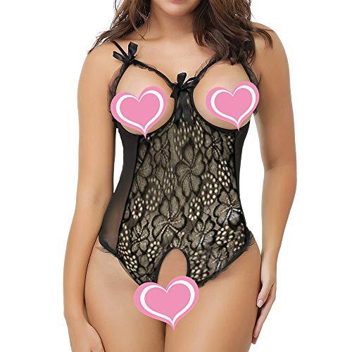 (Dunacifa Women Lingerie Fashion Ladies Sexy Attraction Lace Perspective Lingerie for Sex Bodysuit Underwear Black)