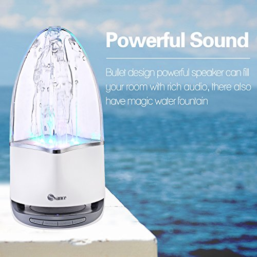 Svance Dancing Water Speaker Portable Wireless Bluetooth Speakers Powerful Stereo Sound and LED Light Show Music Fountain with 3 Play Modes for iPhone, iPad, Laptops, Smartphone by Svance (Image #4)