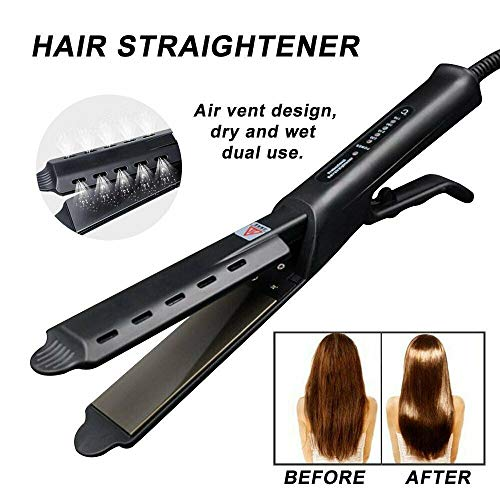 Ceramic Tourmaline Ionic Flat Iron Hair Straightener Professional Glider US Plug (Us Smooth Flat Iron)