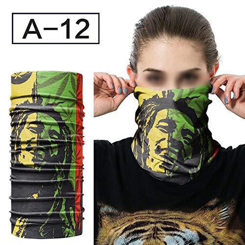 ZFADDS Hiphop Hijab Multifunctional Bandana Headband Magic Face Scarf Seamless Tubular Tube Ring ScarfAs Photo 12 Free Size