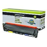 GREENCYCLE 1 Pack Black Toner Cartridge Compatible for HP 201A CF400A Color Laserjet Pro M252dw Laser Printer