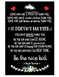 Be The Nice Kid Canvas - Kid's Room Canvas With Inspirational & Motivational Phrases - Wall Art Decor: Classroom, Bedroom, Playroom, Kid's Common Area - Kids Room Wall Art (16x20'')