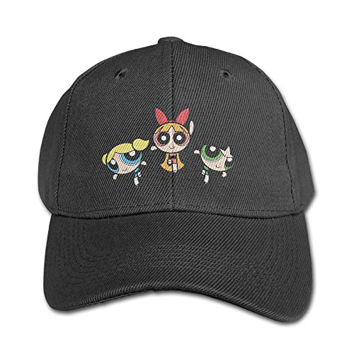 The Power Puff Girls Funny Logo Design Fashion Strapback Hat Flat-along Boys