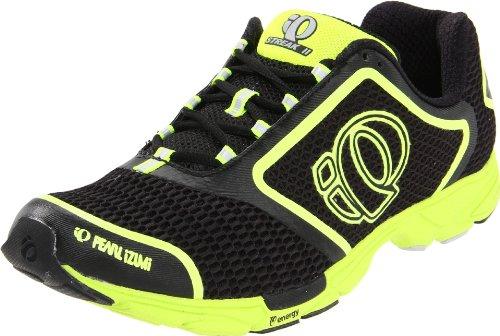 Pearl iZUMi Men's Streak II Running Shoe,Black/Screaming Yellow,9.5 D US