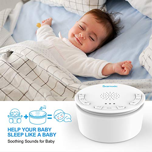 Baby Soother, Samxic Baby Sound Machine Shusher White Noise Machine with Shh & 12 Different Soothing, Sleep-Promoting Sounds, Volume Control and Auto-Off Timer by Samxic (Image #4)
