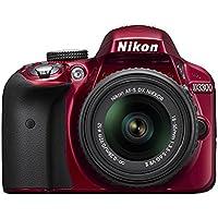 Nikon D3300 24.2 MP CMOS Digital SLR with Auto Focus-S DX NIKKOR 18-55mm f/3.5-5.6G VR II Zoom Lens Red (Certified Refurbished)