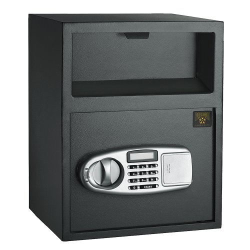 Safe Digital Depository Front Load Cash Vault Drop Safe Box ()