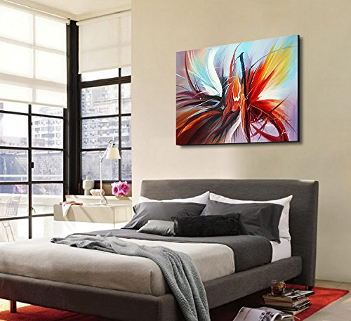 Large Abstract Canvas Wall Art Modern Oil Painting Picture Contemporary Artwork for Home Decoration Stretched Ready to Hang (Framed 4836 inch) by Seekland Art (Image #4)